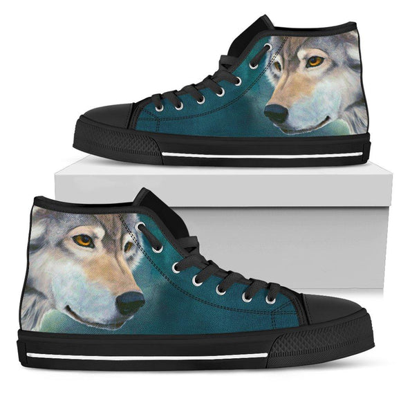 Wolf Face High Top Shoe