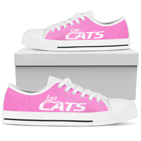 Love Cats Pink Women's Low Top Shoe