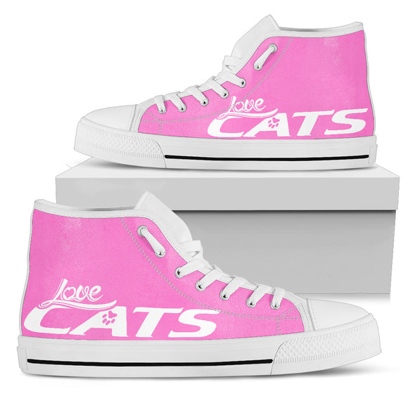 Love Cats Pink Women's High Top
