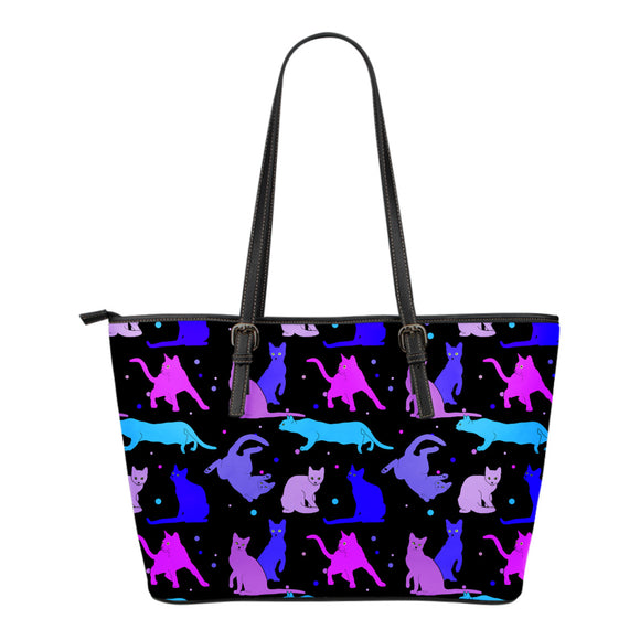 Blue Cats Eco-Leather Tote Bag with Express Shipping