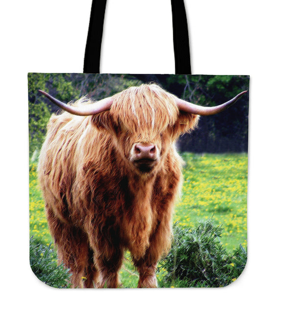 Highland Coo Cloth Tote Bag