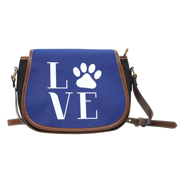 Love Cats Blue Saddle Bag