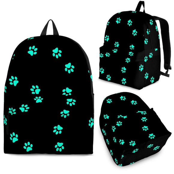 Teal Pawprint Backpack