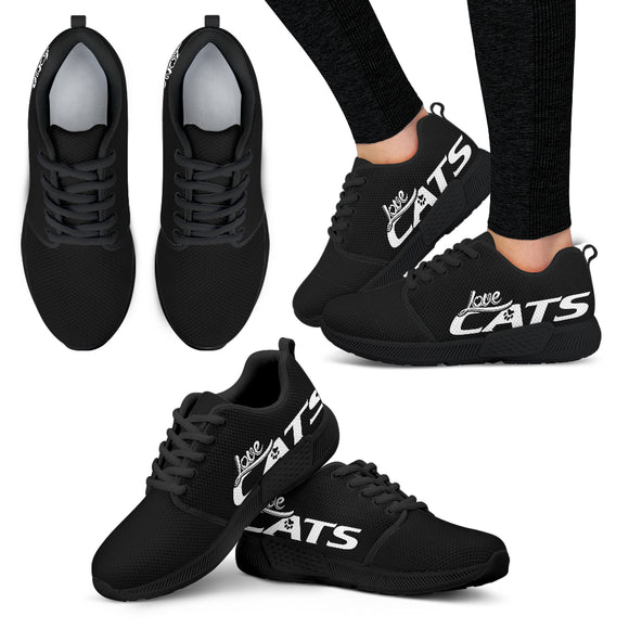 Love Cats Women's Athletic Sneakers