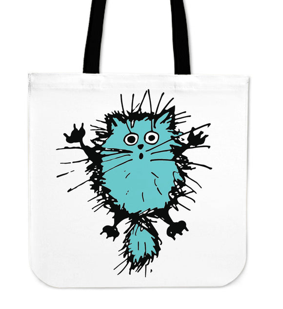 Fuzzy Cat IV - Cloth Tote Bag