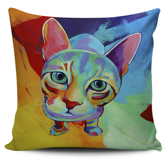 Artsy Cat Pillow Cover