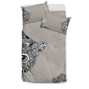 Cat Hiding Bedding Set