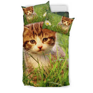 Cat In Garden Bedding Set