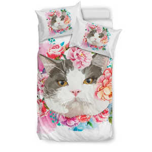 Flower Cat Bedding Set