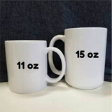 Gold Eyed Cat Face 11 and 15 oz Black Mugs