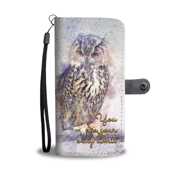 Owl - You Are Your Only Limit - Wallet Phone Case