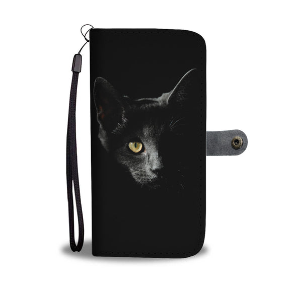 Smokey Grey Cat - Wallet Phone Case