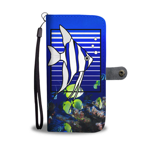 Angelfish Stripes Wallet Phone Case