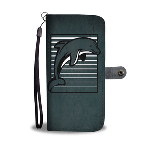 Dolphin Stripes - Wallet Phone Case