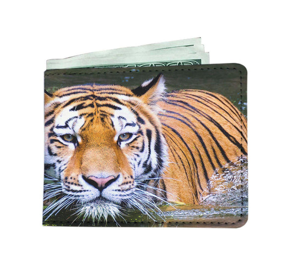 Tiger in Water Mens Wallet