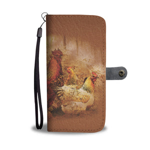 Cock and Hens - Wallet Phone Case
