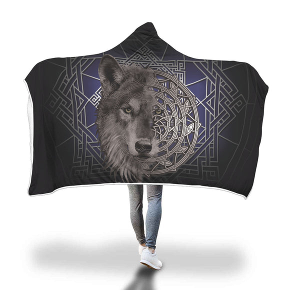 Wolf Spirit Hooded Blanket