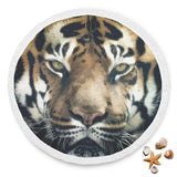 Tiger Face Round Blanket
