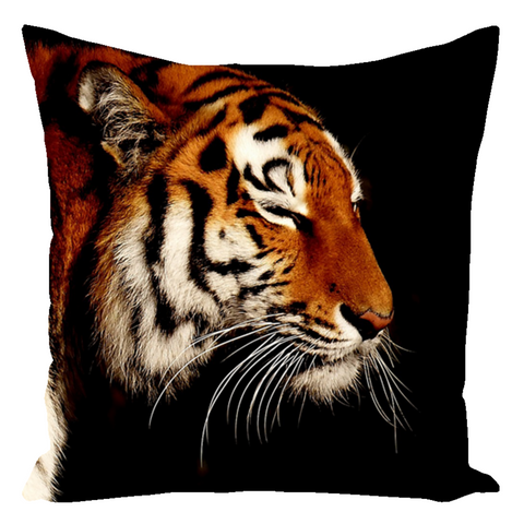Serene Tiger Throw Pillow