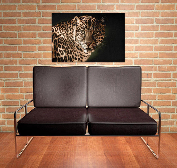 Leopard Portrait Canvas Wall Art