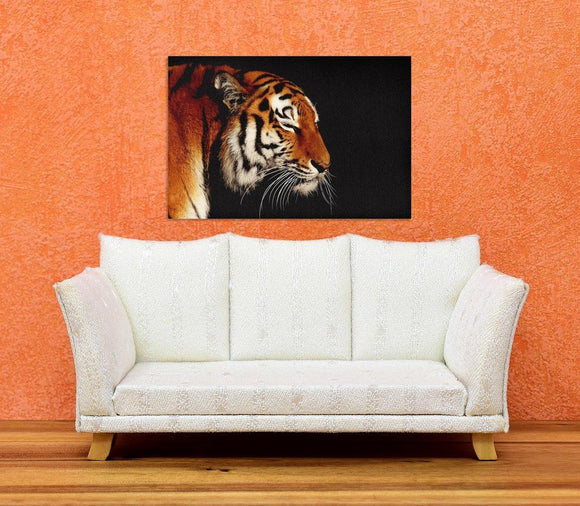 Tiger Portrait Canvas Wall Art