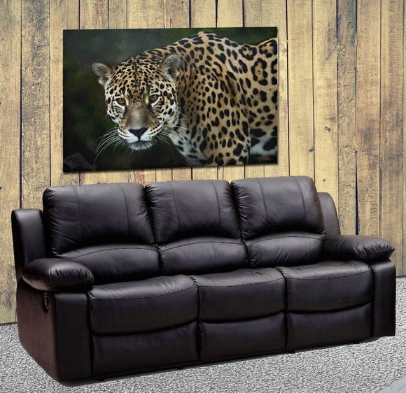 Jaguar Portrait Canvas Wall Art