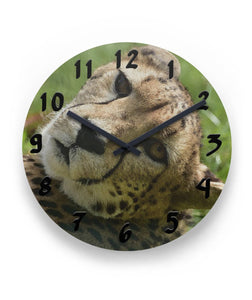 "Cheetah Wall Clock 11"" Round Wall Clock"