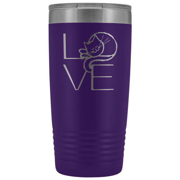 LOVE Cat 20oz Tumbler