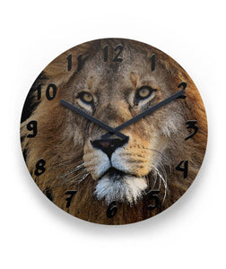 "Lion Portrait Wall Clock 11"" Round Wall Clock"