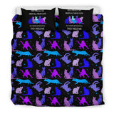 They Need Me - Blue Cats Bedding Set