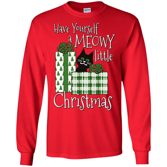 Meowy Little Christmas LS Ultra Cotton T-Shirt