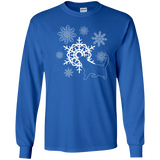 Cat and Snowflakes LS Ultra Cotton T-Shirt