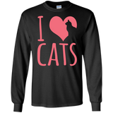 I Heart Cats LS Ultra Cotton T-Shirt