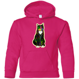Colorful Tuxedo Cat Youth Pullover Hoodie