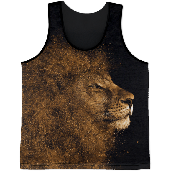 Lion Glitter All Over Print Tank Top