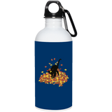 Cat in Leaves 20 oz. Stainless Steel Water Bottle