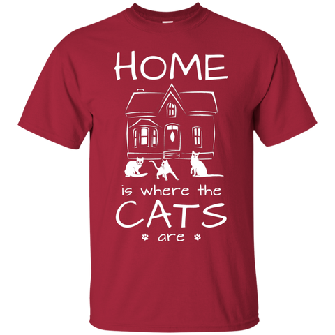 Home is Where the Cats Are Ultra Cotton T-Shirt