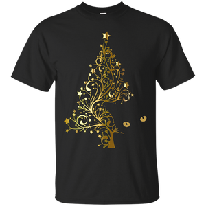 Black Cat Christmas Tree Ultra Cotton T-Shirt