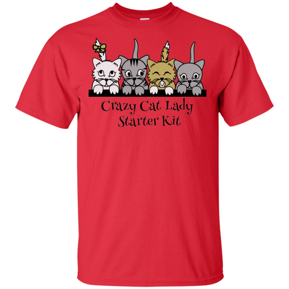 Crazy Cat Lady Starter Kit Ultra Cotton T-Shirt