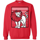 Lion Stripes Crewneck Pullover Sweatshirt