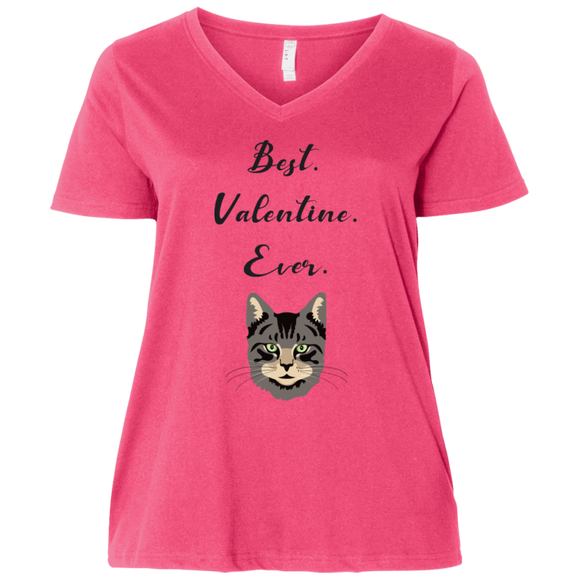 Best Valentine Ever Ladies Curvy T-Shirts