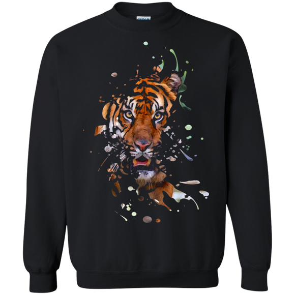 Disappearing Tiger Crewneck Pullover Sweatshirt