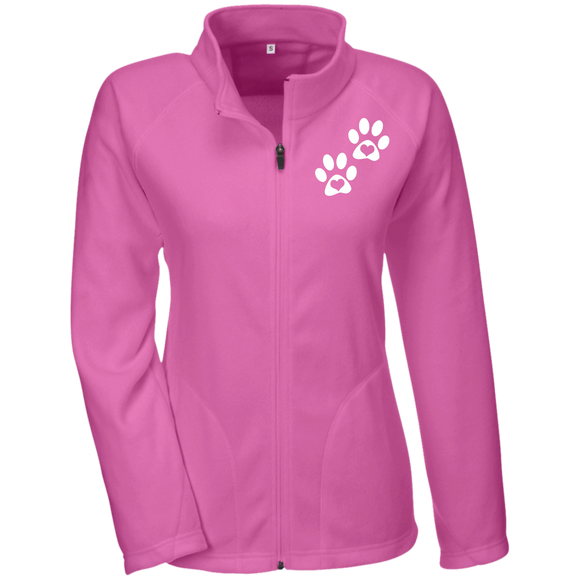 Heart Paw Print Ladies' Microfleece