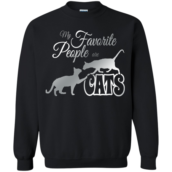 My Favorite People are Cats Crewneck Pullover Sweatshirt