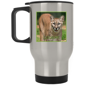 Cougar Square Stainless Steel Travel Mug
