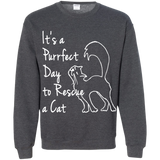 Purrfect Day Crewneck Pullover Sweatshirt