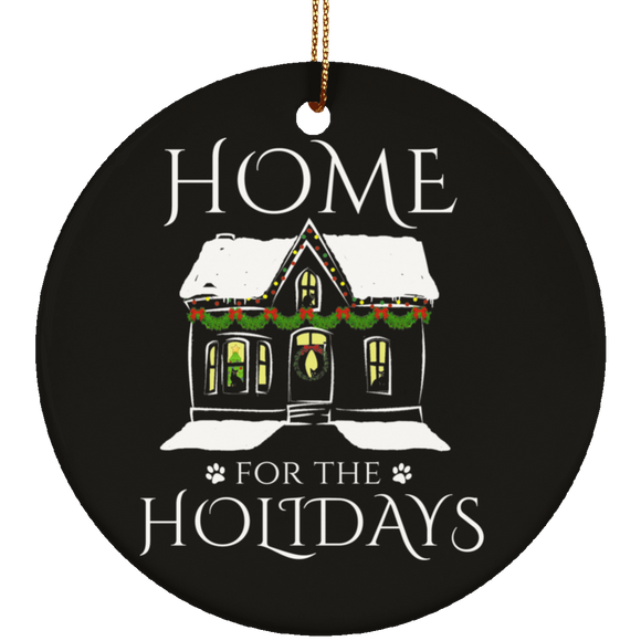Home for the Holidays Ceramic Ornaments in 4 Shapes
