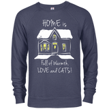 Home is Full of Warmth, Love and Cats Unisex Hoodies and Sweatshirts