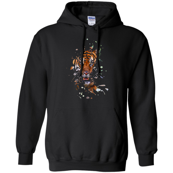 Disappearing Tiger Pullover Hoodie