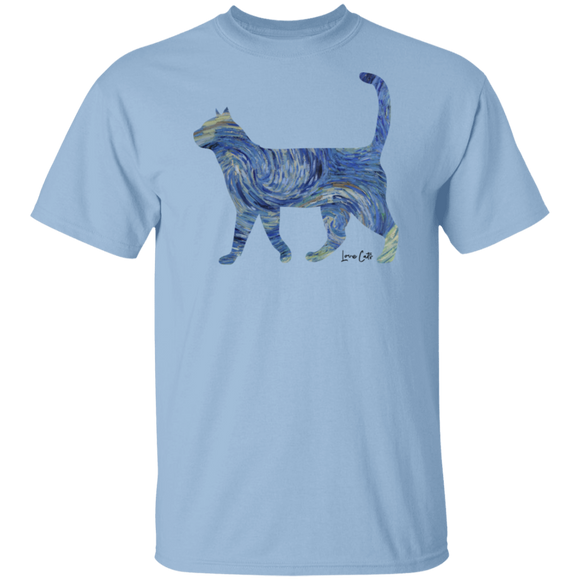 Starry Night Tabby Cotton T-Shirt
